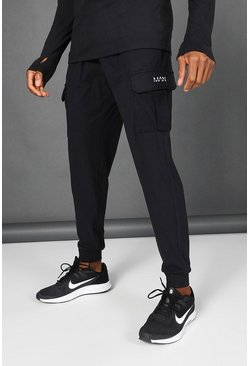 Black Man Active Yoga Cargo Jogger