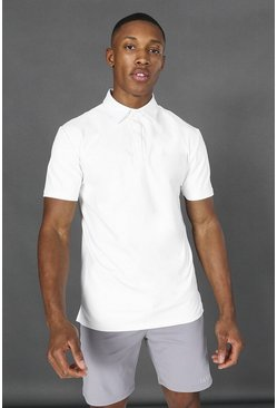 White Man Active Yoga Polo Top
