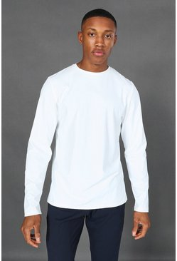 White Man Active Yoga Long Sleeve Top