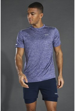 Navy Man Active Lightweight Marl T-shirt