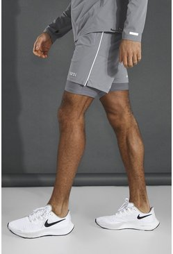 Grey Man Active Lightweight 2-in-1 Plain Short
