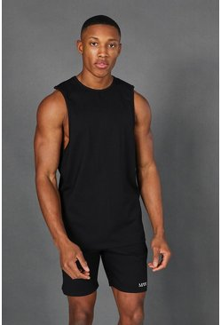 Black Man Active Yoga Side Split Tank Top