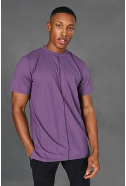 Purple Man Active Premium Yoga Side Split T-shirt