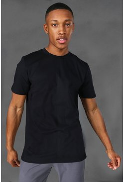 Black Man Active Yoga Side Split T-shirt