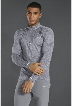 Grey Man Active Lightweight Marl 1/4 Zip Top