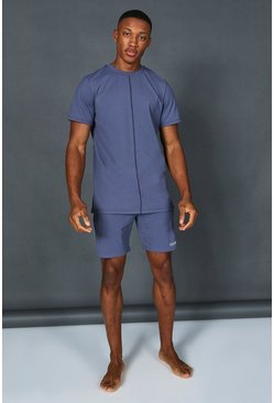 Dusty blue Man Active Premium Short Tracksuit