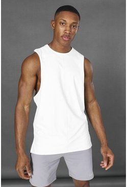 White Man Active Yoga Side Split Tank Top