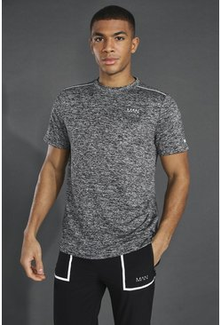 Black Man Active Lightweight Marl T-shirt
