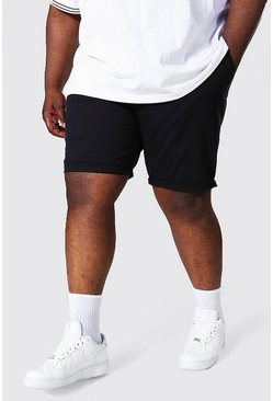 Black Plus Slim Fit Chino Short