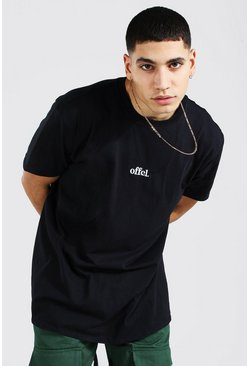 Black Oversized Official Embroidered T-shirt