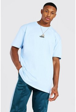 Light blue Oversized Official Embroidered T-shirt