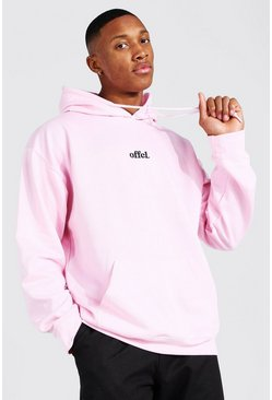 Sweat à capuche oversize Official , Light pink