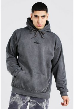 Sweat à capuche oversize surteint Official, Grey