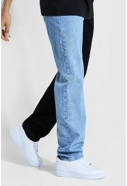 Ice blue Tall Relaxed Fit Spliced Jean