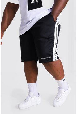 Black Plus Man Tricot Mid Short With Side Tape