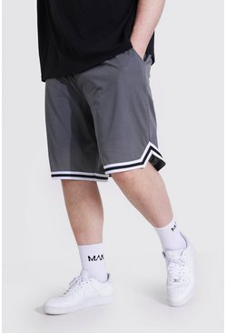 Charcoal Plus Airtex Basketball Shorts With Tape