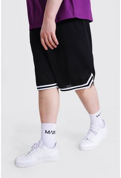 Black Plus Airtex Basketball Shorts With Tape