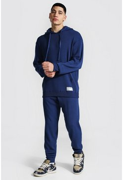Steel Man Knitted Hoodie & Jogger Tracksuit