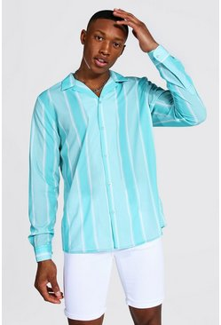 Mint Long Sleeve Striped Shirt