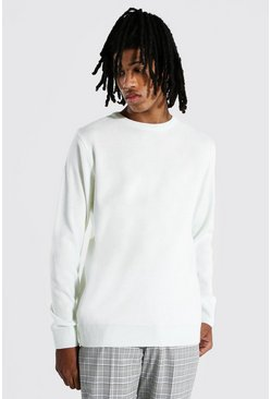 Cream Tall Basic Crew Neck Sweater