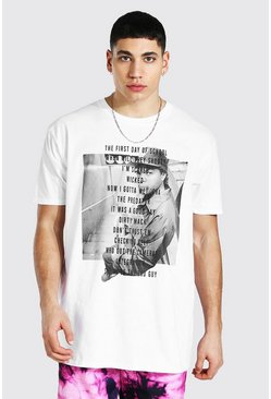 White Oversized Ice Cube Lyric License T-shirt