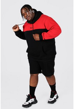 Red Plus Man Tape Colour Block Short Tracksuit