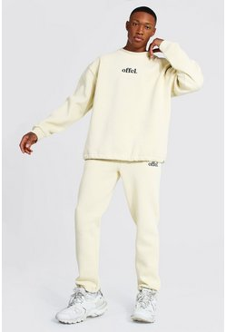 Sand Oversized Offcl Extended Neck Toggle Tracksuit