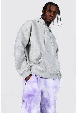 Grey marl Oversized Official Man Boxy Fit Hoodie