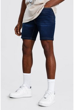 Dark blue Skinny Stretch Denim Short
