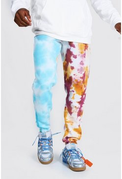 Multi Regular Official Spliced Tie Dye Joggers
