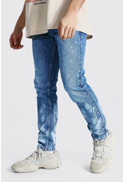 Ice blue Bleached Skinny Rigid Jean