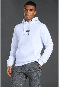 White Man Active Training Over The Head Hoodie