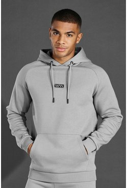 Grey marl Man Active Training Over The Head Hoodie