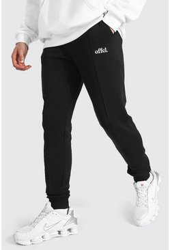 Black Skinny Official Pintuck Joggers