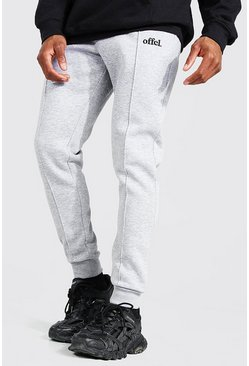 Grey marl Skinny Official Pintuck Joggers