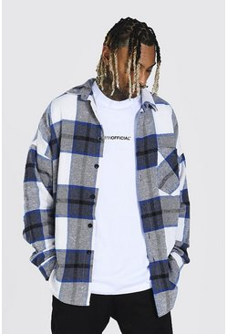 Cobalt Heavyweight Oversized Check Overshirt