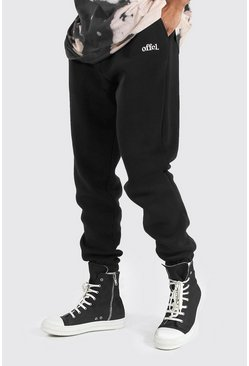 Black Regular Official Joggers