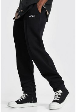Black Regular Official Pintuck Joggers