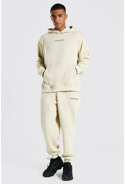 Sand Official Man Oversized Hooded Tracksuit