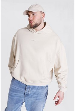 Plus Size Heavyweight Offcl Emb Hoodie, Stone