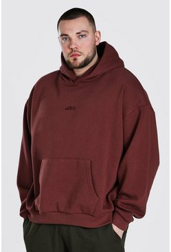 Chocolate Plus Size Heavyweight Offcl Emb Hoodie