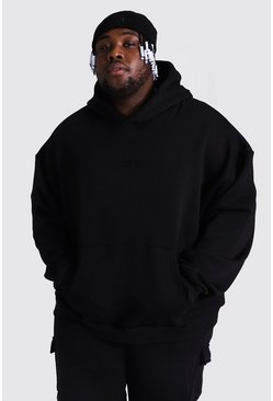 Black Plus Size Heavyweight Offcl Emb Hoodie