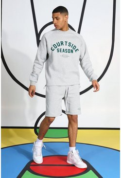Grey Courtside Short Tracksuit