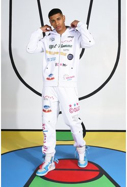 All Over Printed Tracksuit, White