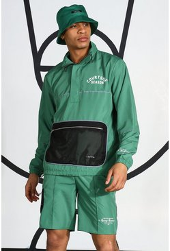 Ripstop Tracktop With Reflective Piping, Green