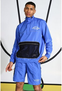 Blue Ripstop Tracktop With Reflective Piping