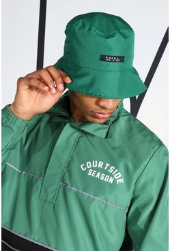 Green Ripstop Bucket Hat With Reflective Piping