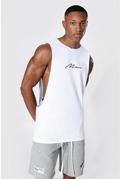 White Man Signature Extreme Drop Armhole Tank