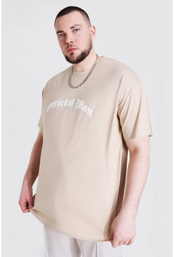 Sand Plus Size Gothic Official Man Print T-shirt