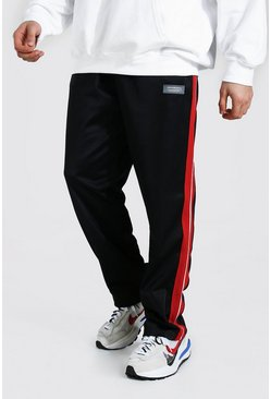 Red Loose Official Man Tricot Joggers With Tape